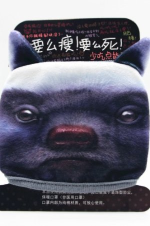 Photo1: Kawaii Outdoor Indoor Cotton Face Mask Mouth Protection - Honey Badger