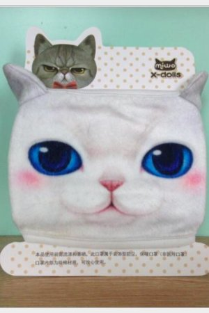Photo1: Kawaii Outdoor Indoor Cotton Face Mask Mouth Protection - cat five