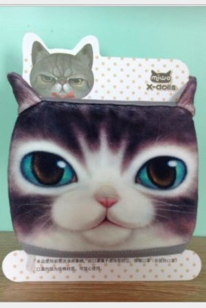 Photo1: Kawaii Outdoor Indoor Cotton Face Mask Mouth Protection - Cat three