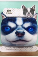 Kawaii Outdoor Indoor Cotton Face Mask Mouth Protection - Husky Blue Eye