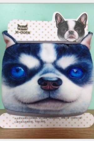 Photo1: Kawaii Outdoor Indoor Cotton Face Mask Mouth Protection - Husky Blue Eye