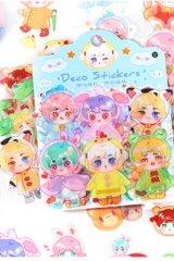 Kawaii Planner Journal Sticker Sack Flake Book - sweet doll - rain coat