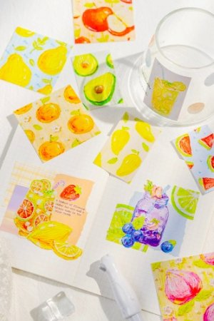 Photo1: Kawaii Planner Paper Label Sticker Box - moon - today sweets