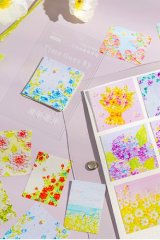 Kawaii Planner Paper Label Sticker Box - moon - flower blossom