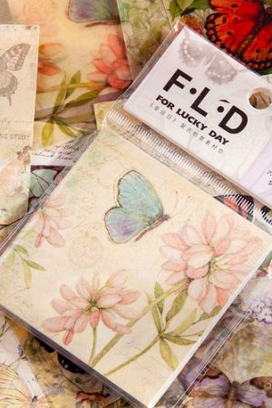 Photo1: DIY Craft Decor Planner Paper Materials Pack - Lucky Days - Butterfly