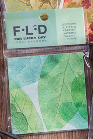Photo1: DIY Craft Decor Planner Paper Materials Pack - Lucky Days - Leaves