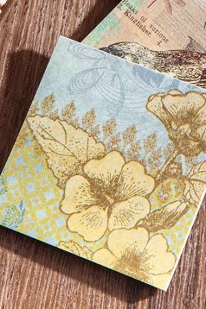 Photo1: DIY Craft Decor Planner Paper Materials Pack - Lucky Days - Impression Flower