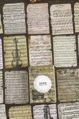 VintageStyle Planner Sticker Sack - art - music sheet