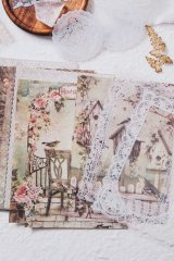 DIY Craft Decor Planner Paper Materials Pack - Lace waltz - Giselle