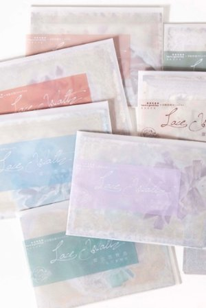Photo2: DIY Craft Decor Planner Paper Materials Pack - Lace waltz - swan lake