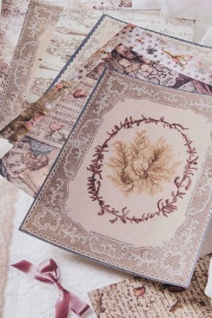 Photo1: DIY Craft Decor Planner Paper Materials Pack - Lace waltz - Flowers Festival in Genzano