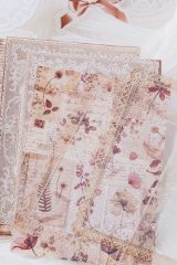 DIY Craft Decor Planner Paper Materials Pack - Lace waltz - napoli