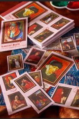 Paper Planner Sticker Book - romantic colorful painting - Red
