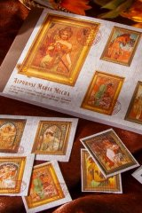 Paper Planner Sticker Book - romantic colorful painting - mucha palace