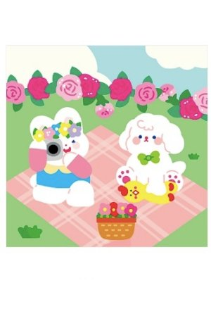 Photo1: Kawaii Notes Memo Sheets Pad - sweet house - forest party