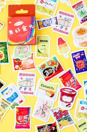 Photo1: Lovely Planner Paper Label Sticker Box - Good Time Food