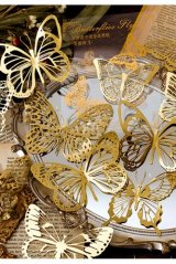 Gilded DIY hollow-carved Lace Kraft Paper Material - romantic story - butterfly