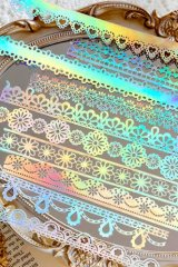 Gilded DIY hollow-carved Lace Kraft Paper Material - romantic story - dreamy lace