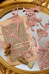 Gilded DIY hollow-carved Lace Kraft Paper Material - romantic story - ballet