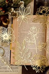 Gilded DIY hollow-carved Lace Kraft Paper Material - romantic story - golden forest