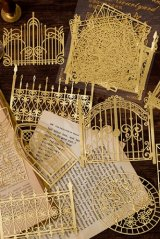 Gilded DIY hollow-carved Lace Kraft Paper Material - romantic story - garden