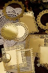 Gilded DIY hollow-carved Lace Kraft Paper Material - romantic story - frame window lace