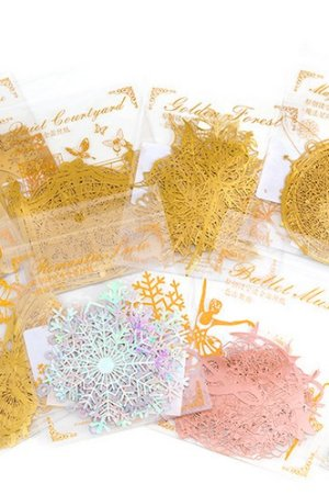 Photo2: Gilded DIY hollow-carved Lace Kraft Paper Material - romantic story - ballet