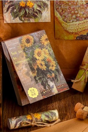 Photo1: Gilded Paper Planner Journal Memo Notes - healing art - painting