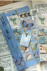 Gilded Paper Planner Journal Sticker - vintage post office - letter from nature