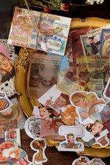 Journal Planner Paper Label Sticker Material Box - vintage memory - manga 亚特拉斯漫画