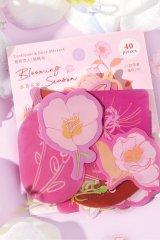 Kawaii DIY Planner Sticker Sack - floral dream - blooming season