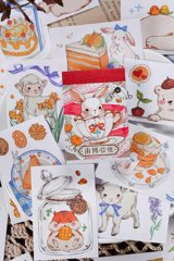 Kawaii Planner Journal Sticker Sack Flake Book - windy mail - from south