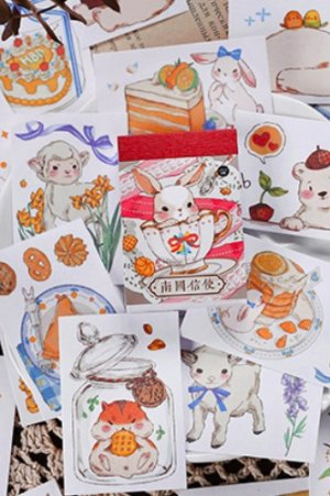 Photo1: Kawaii Planner Journal Sticker Sack Flake Book - windy mail - from south