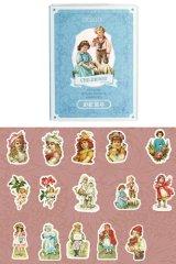 Kawaii Journal Planner Pet Label Sticker Match Box - retro time - childhood
