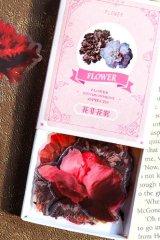 Kawaii Journal Planner Pet Label Sticker Match Box - retro time - flower