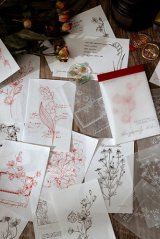 Kawaii Paper Stationery Memo Notes - four seasons - red