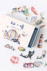 Vintage Style Planner DIY Paper Label Sticker Box - secret world