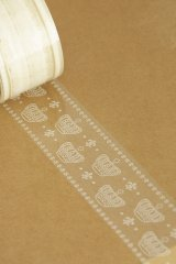 SALE - Transparent Printed Wide Lace Tape - 08