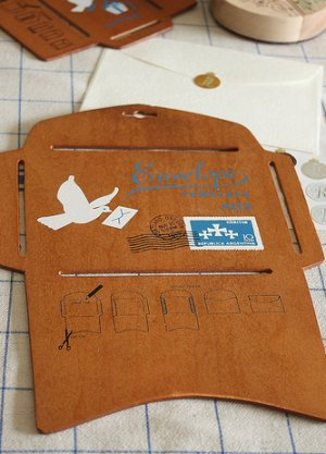 Photo1: Antique Style ECO Envelope Template L size
