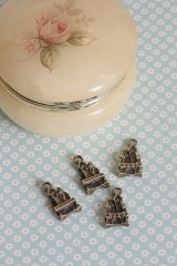 SALE-Antique Style Bronze Charms - Little Castle
