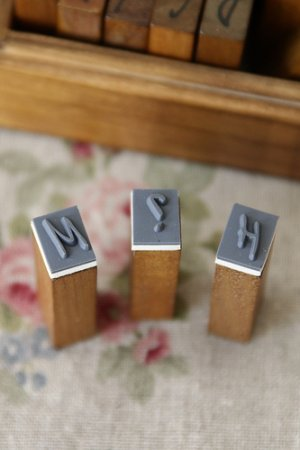 Photo2: Antique Style Wood Stamps Set - Alphabet - Uppercase Letters