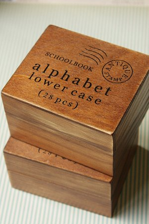 Photo3: Antique Style Wood Stamps Set - Alphabet - Lower Letters
