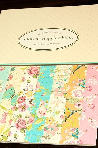 Super cute gift wrapping paper book super cute gift wrapping paper book flower patterns mightylinksfo