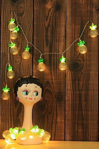 Superior SALE   Kawaii Fairy Party Supplies Patio String LED Light With Battery Case  [Pineapple]