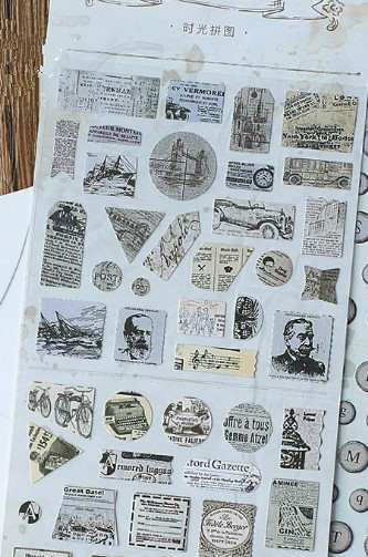 Vintage Style Planner Sticker Set - Time of the puzzle