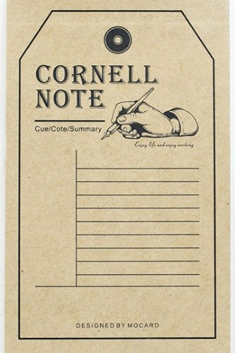 Kraft Paper Retro Notes Memo  Cornell Note