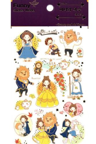 Kawaii Korean Funny Sticker Set Beauty Beast
