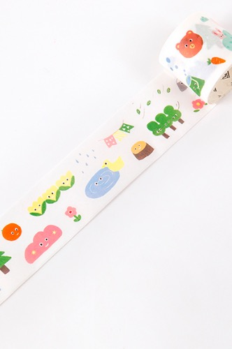 Kawaii Bujo Journal Planner Haul Tape - Emoji - cute forest